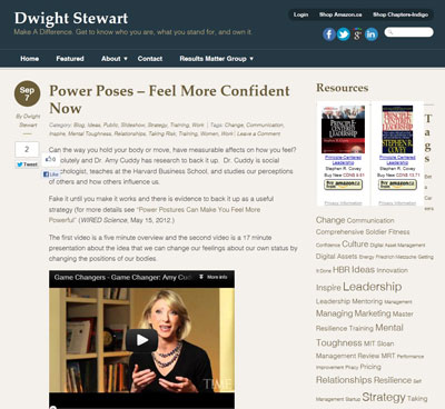 Dwight Stewart blog homepage image